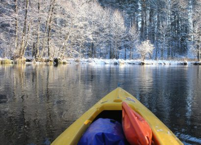 Winter kayaking trips